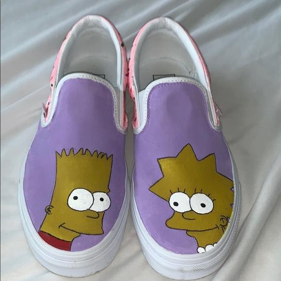 custom painted Simpsons vans